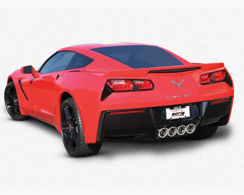 Image of Borla Atak 2.75inch 2.25inch Dual Round Rolled Angle Cut Exhaust Exhaust Corvette C7 6.2L V8 14