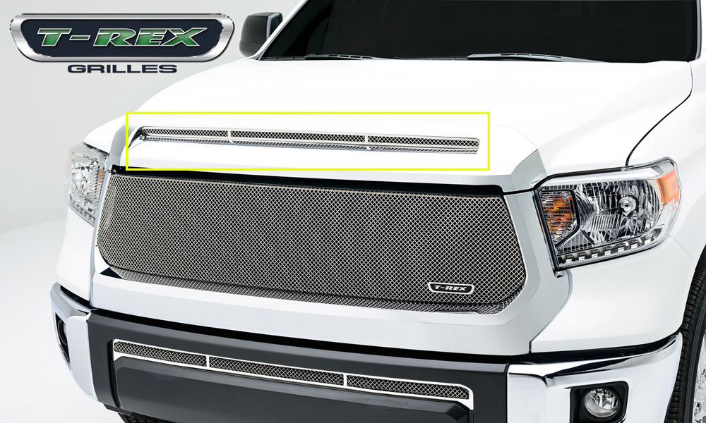 Tundra Grille 14-17 Toyota Tundra Stainless Polished 1 Piece T1 Series T-REX Grilles - 119640