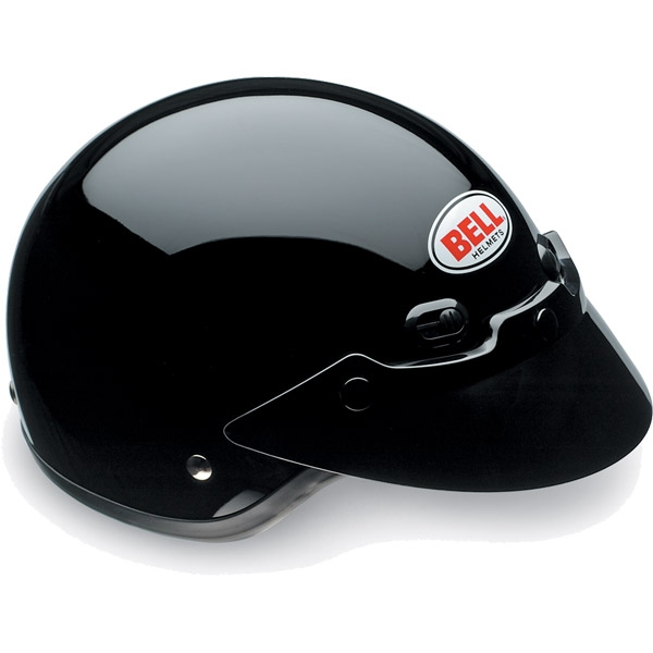 Image of Bell Racing Shorty Black Solid Helmet 2XL 62-63
