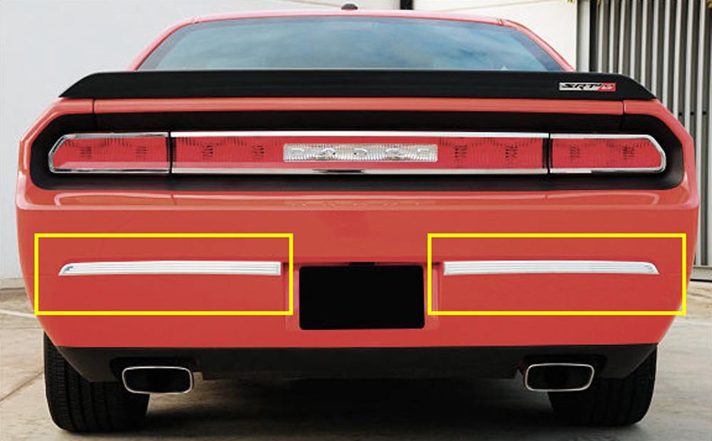 Challenger Bumper Trim 09-14 Dodge Challenger Aluminum Polished 2 Piece T1 Series T-REX Grilles - 12418