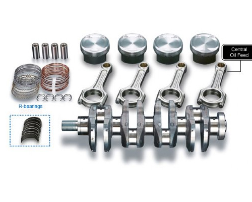 Toda Stroker Kit - 86.50mm x 90.7mm (2132cc. 9.1 compression) + I-Beam Forged Connecting Rods Honda K20A 01-13 - 13001-K20-TR1-l2