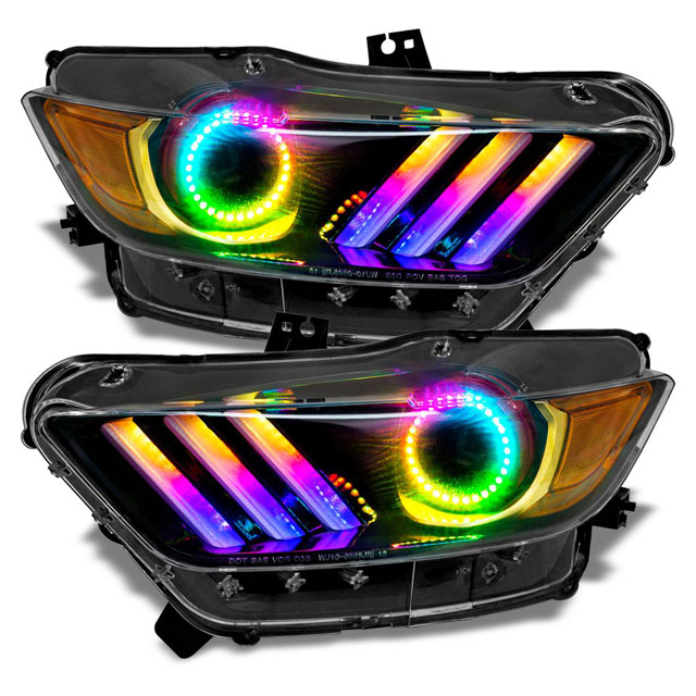 Oracle Lighting Dynamic Colorshift Drl Halo Kit Ford Mustang Gt 15 17