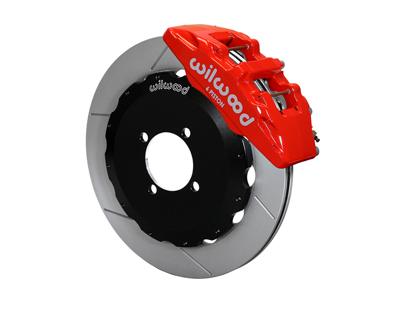"""Wilwood DynaPro 6 Calipers 12.88"""" GT Competition Series Rotors Red Powder Coat Mazda MX-5 Miata 16-17 - 140-14234-R"""