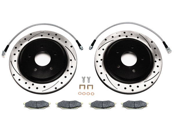 Wilwood Pro-Matrix Drilled Rear Brake Rotors w/Pads Chevrolet Corvette ALL 97-04 - 140-8010-D