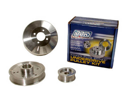 BBK 3 Piece Underdrive Aluminum Pulley Kit Ford Mustang 4.6L GT Cobra 96-01