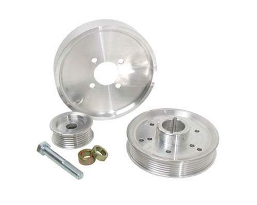 BBK 3 Piece Aluminum Underdrive Pulley Kit Ford Mustang GT 01-04