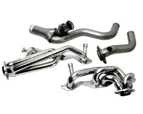 BBK Chrome Single Cat Exhaust Headers Y Pipe System Chevrolet Camaro 94-95