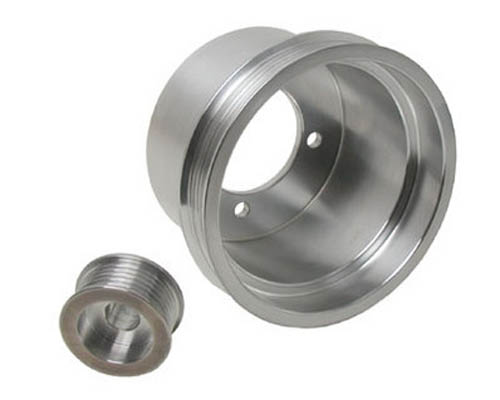 BBK 2 Piece Aluminum Underdrive Crank Pulley Kit Ford Mustang 3.8L 94-98