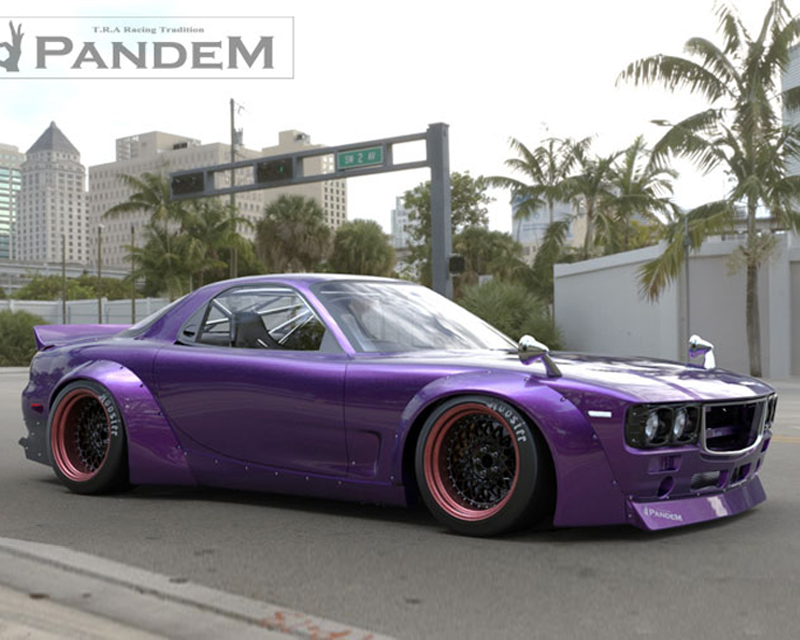 17040306 pandem | boss rear duck wing mazda rx-7 fd3s