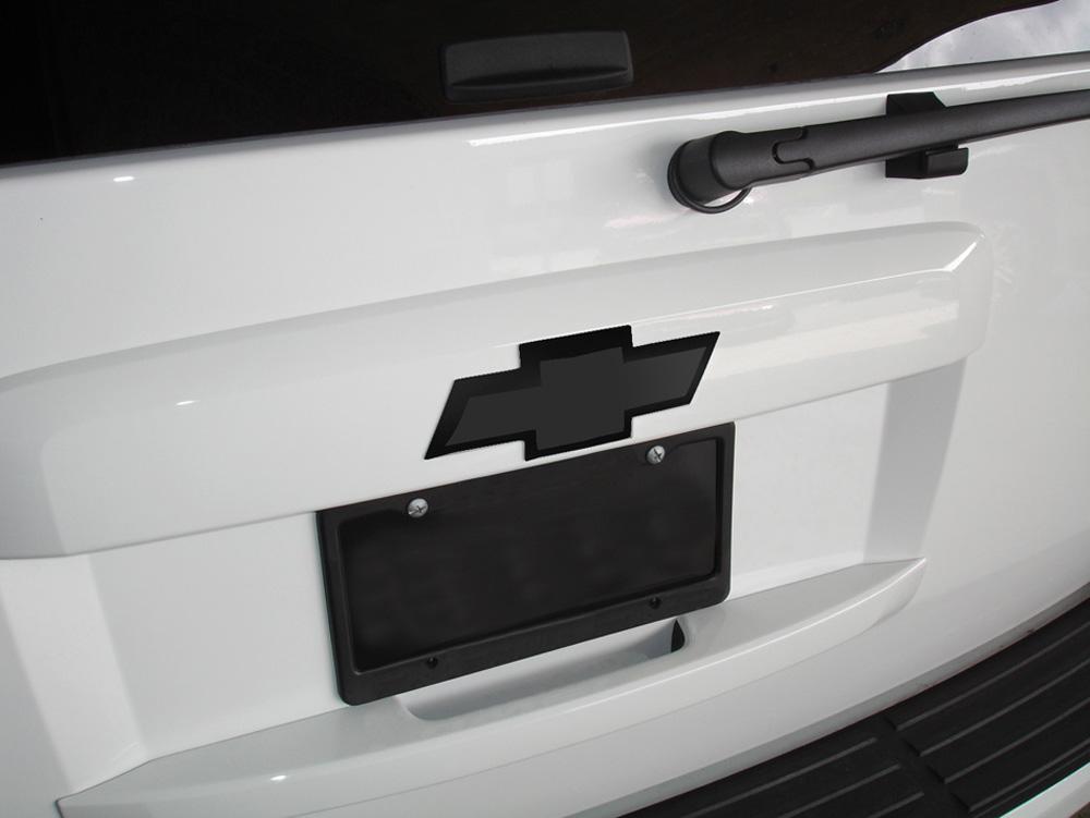 Suburban/Tahoe Grille Emblem 07-14 Chevrolet Suburban/Tahoe Billet Bow Tie Rear W/Border 8 Inch Aluminum Powdercoat Black T-REX Grilles - 19050B