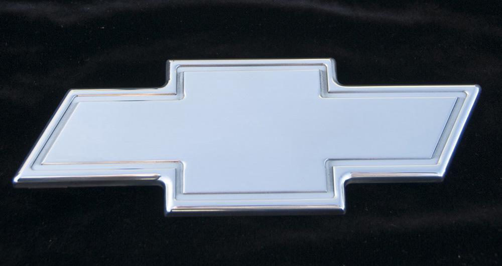 Chevy Grille Emblem 07-13 Chevrolet Tahoe/Suburban/Avalanche Billet Bow Tie Rear W/Border 10.25 Inch Aluminum Polished T-REX Grilles - 19055