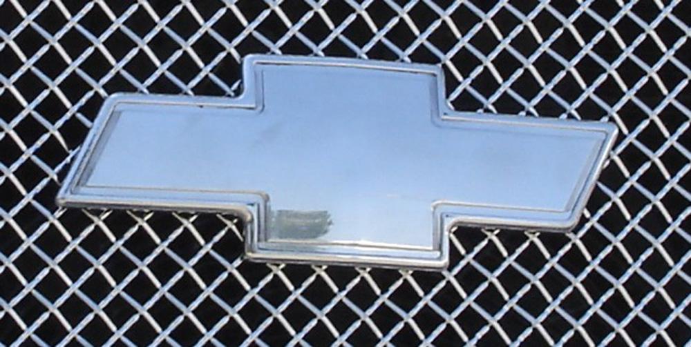 Silverado Grille Emblem 00-06 Chevrolet Silverado Billet Bow Tie Front W/Border Aluminum Polished T-REX Grilles - 19076