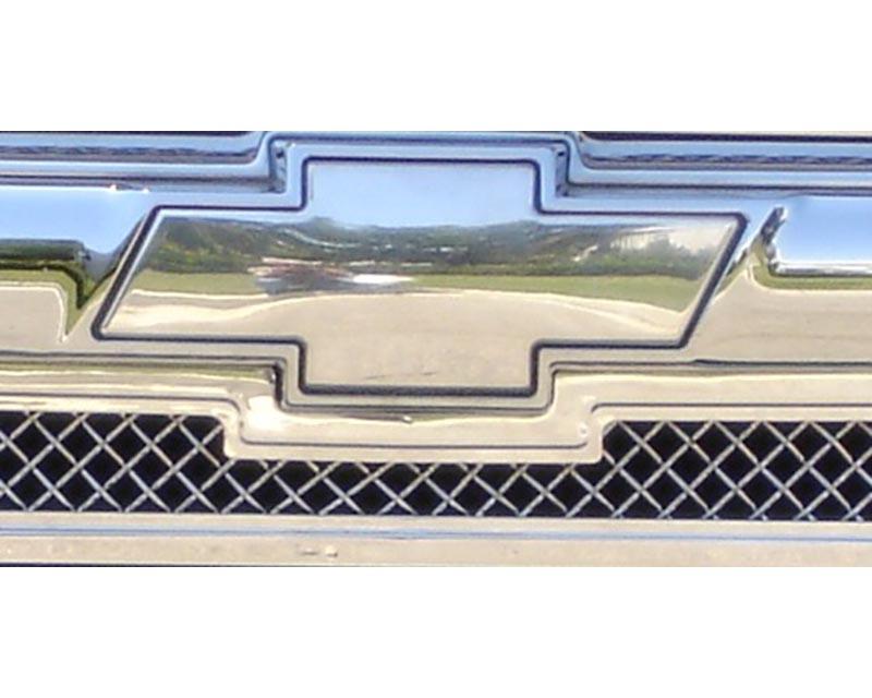 Trailblazer Grille Emblem 02-09 Chevrolet Trailblazer LS  Billet Bow Tie Front Plain Aluminum Polished T-REX Grilles - 19282