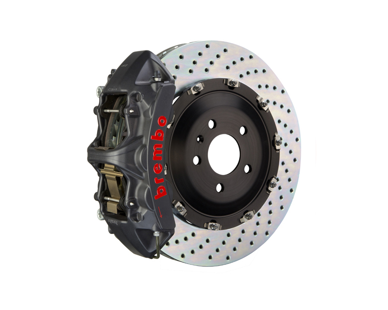 Brembo GT-S 380x34 2-Piece 6-Piston  Drilled Front Big Brake Kit - 1N1.9069AS