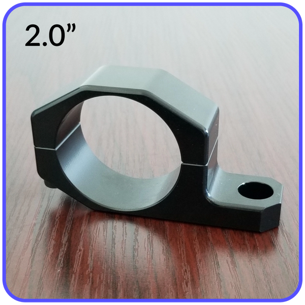 2.0 Inch Inside Diameter Roll Cage Clamp Aluminum Black Anodized Pyramid LED Whips - 2.0RCC
