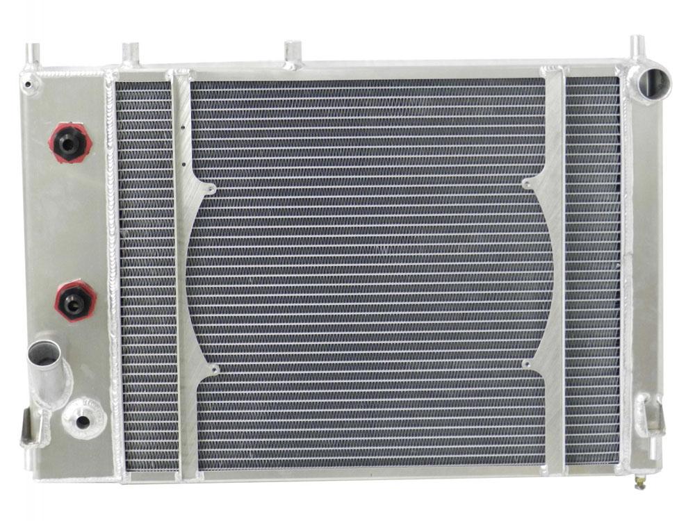 05-10 FR500C Mustang 5.0 Cammer Engine 10 Plate Engine Oil Cooler W/ 10 An Fittings 16 IN Spal Fan Mounts W/Out Fan - 20-01054