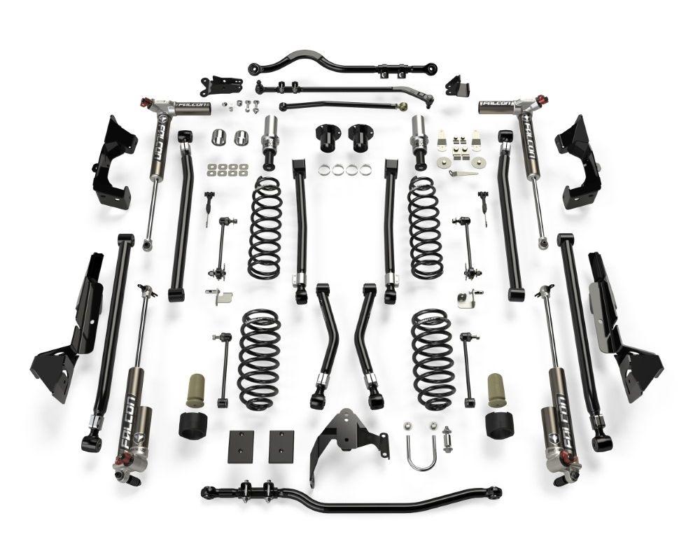 "TeraFlex 2 Door Alpine CT6 Suspension System 6"" Lift w/ Falcon 3.3 Shocks Jeep Wrangler JK 2007-2018 - 1226033"