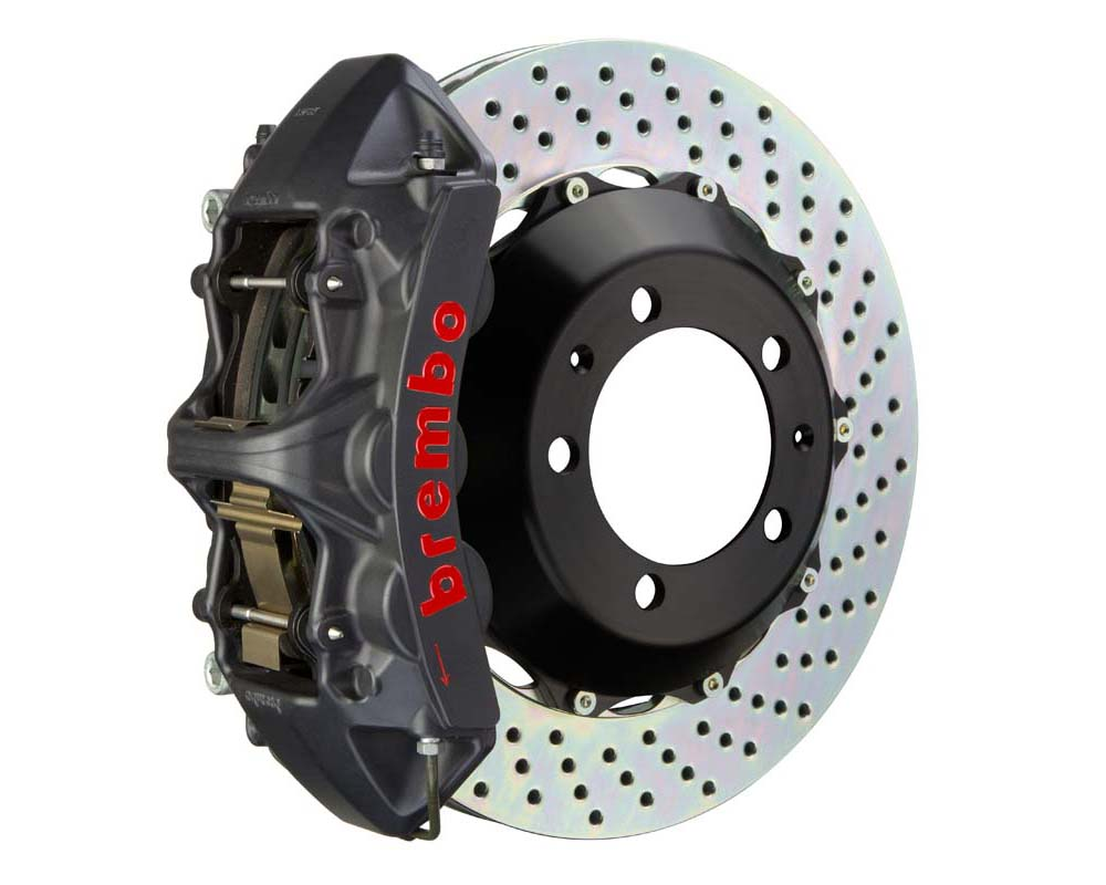 Brembo GT-S 355x32 2-Piece 6-Piston  Drilled Front Big Brake Kit - 1M1.8017AS