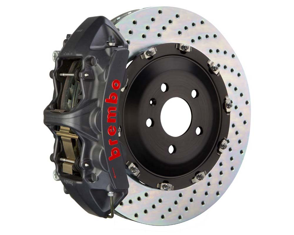 Brembo GT-S 380x34 2-Piece 6-Piston  Drilled Front Big Brake Kit - 1N1.9017AS