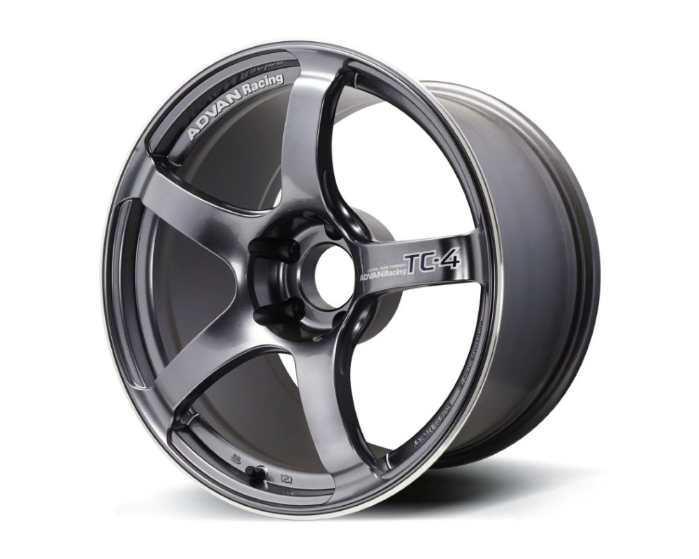Advan TC-4 Wheel 18x11 5x114.3 15mm Racing Gunmetallic & Ring - YAD8M15EGMR