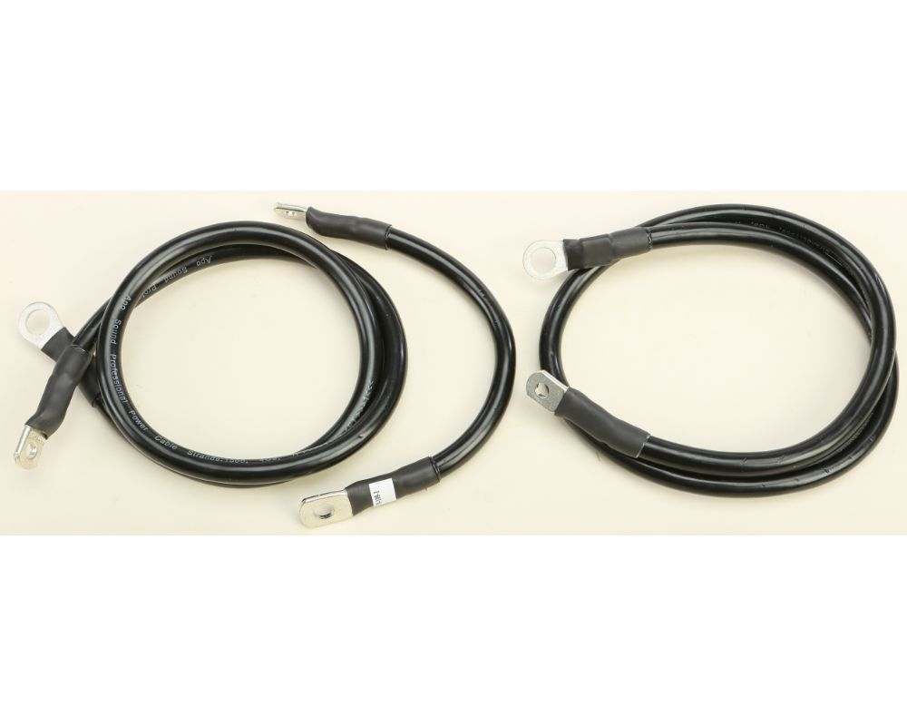 All Balls Battery Cable Kit Harley Flh Electra Glide 1980-1981 (Black) - 79-3007-1