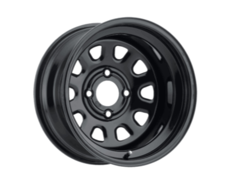 12x7//4x156mm ITP Delta Steel Black Wheel with Machined Finish