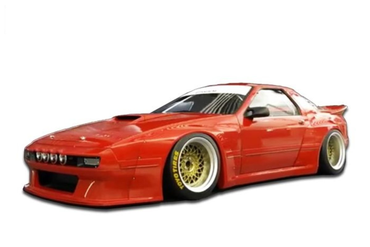 Pandem Aero Complete Widebody Aero Kit with Ducktail Wing Mazda RX7 1986-1992 - 17040330