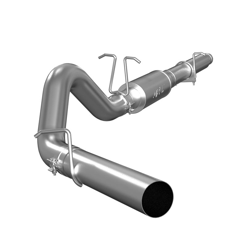 MBRP Cat Back Exhaust System 4 Inch Single Side Exit No Tip Included Aluminized Steel For 99-04 Ford F-250/350 V-10 - S5206P