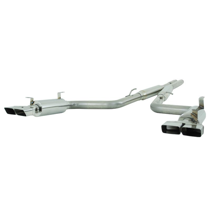 MBRP Cat Back Exhaust System Dual Split Rear T409 Stainless Steel For 09-14 Dodge Challenger RT 5.7L Hemi - S7104409