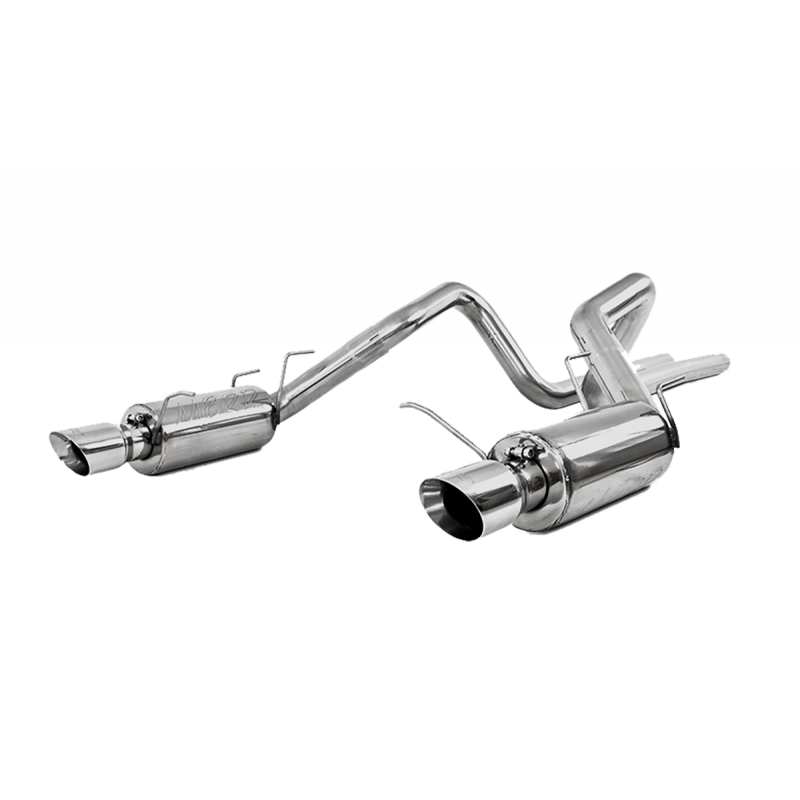 """MBRP T409 Stainless Steel 3"""" Catback Dual Split Rear Street Version Ford Mustang GT 