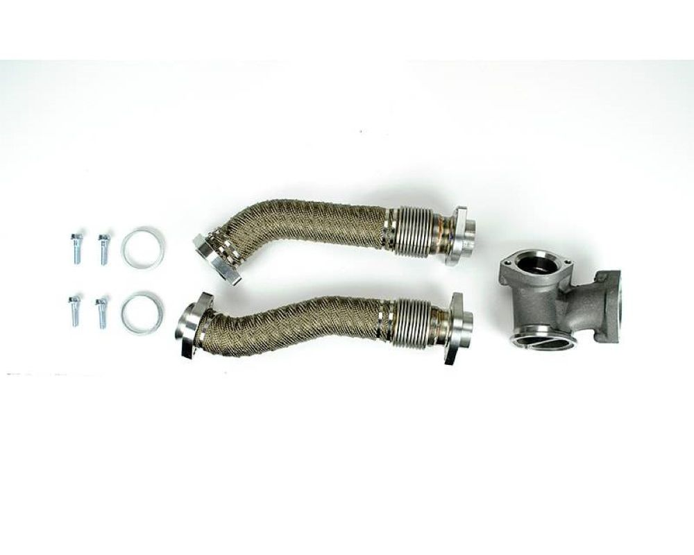 Sinister Diesel Up-Pipe Kit Ford 7.3L Powerstroke 1999-2003 - Ceramic Coated|Heat Wrap - SD-UPPIPE-7.3-CW