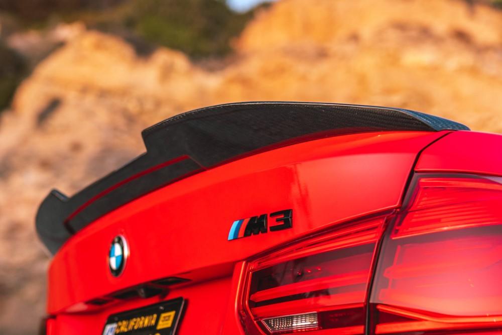 StreetFighterLA Carbon Fiber Rear Spoiler BMW F30 | F80 - SFXLA-F30F80-SPLCBN