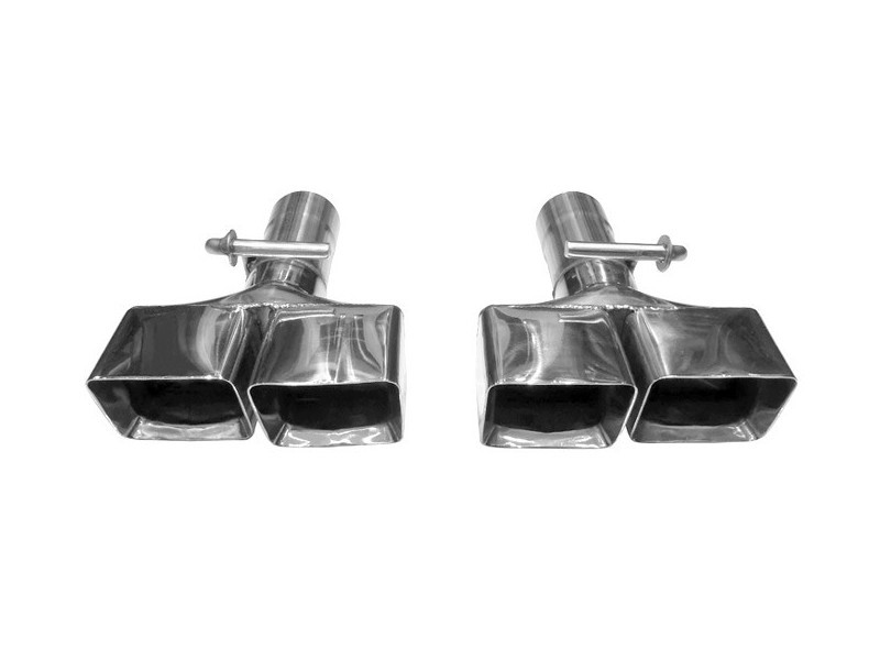 """Solo Performance 3"""" Clamp On Exhaust Tips (Pair) Dodge Challenger SRT 2008-2014 - T601-1R3.0 CO"""