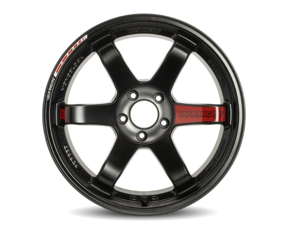 Volk Racing TE37 SL Black Edition III Wheel 18x10.5 5x114.3 14mm Pressed Black/Rim REDOT - WVDAC14EPB3
