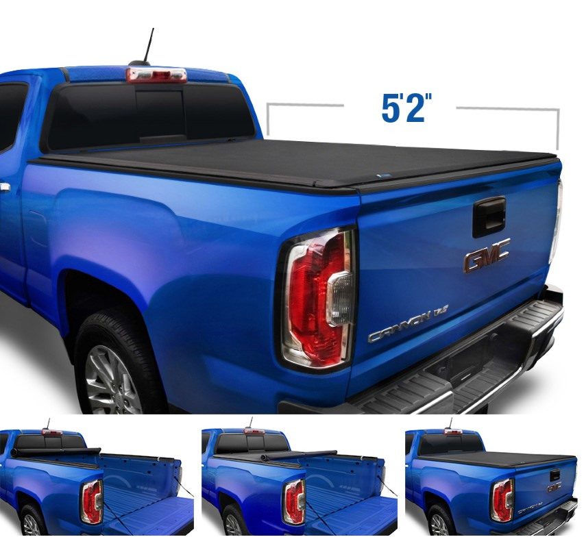 """Tyger Auto T1 Soft Roll Up Truck Bed Tonneau Cover (5'2"""") Chevrolet Colorado 
