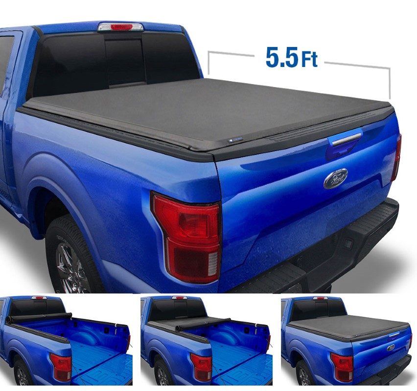 Tyger Auto T1 Soft Roll Up Truck Bed Tonneau Cover (5.5-Feet) Ford F-150 | Lincoln Mark LT 2004-2008 - TG-BC1F9019