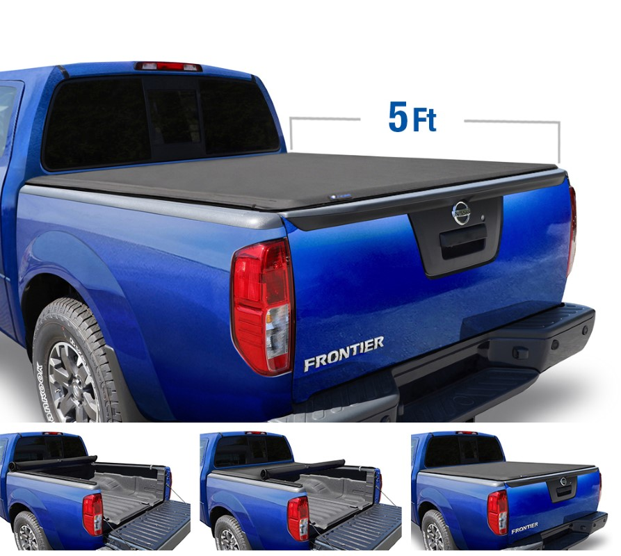 Tyger Auto T1 Soft Roll Up Truck Bed Tonneau Cover (5-Feet) Nissan Frontier 2005-2020 - TG-BC1N9034