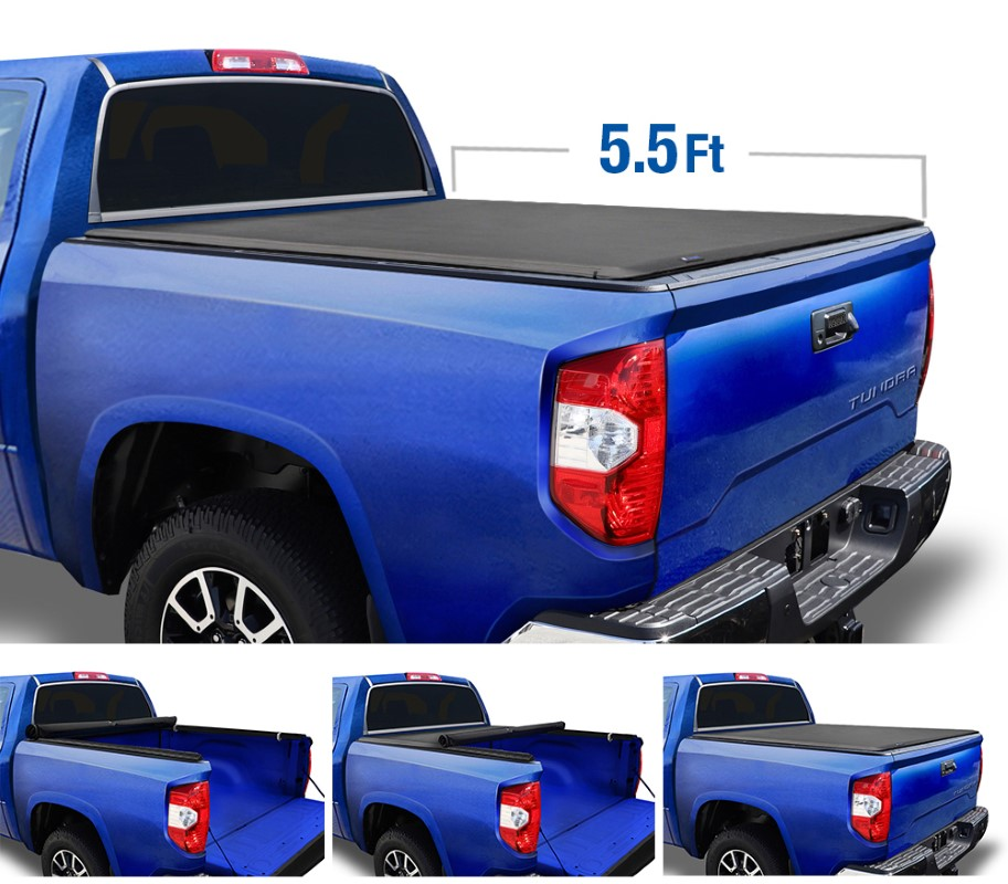 Tyger Auto T1 Soft Roll Up Truck Bed Tonneau Cover (5.5-Feet) Toyota Tundra 2007-2013 - TG-BC1T9038