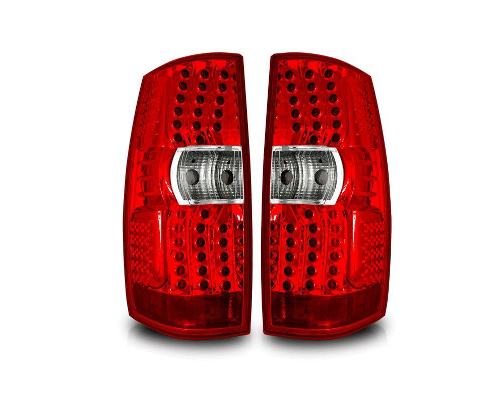 Winjet Chrome Red LED Tail Lights GMC Yukon 2007-2013 - WJ20-0350-08