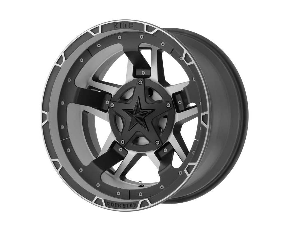 XD Series XD827 Rockstar III Wheel 22.00x12.00 5X5.5/150 -44 Matte Black Machined - XD82722286544N