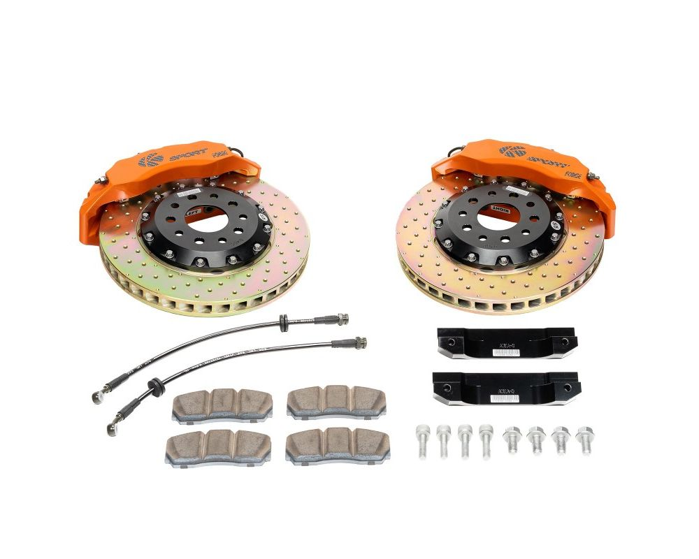 Ksport Procomp 8 Piston 356mm Front Big Brake Kit - Slotted Porsche Cayman S 2006-2013 - BKPO041-841SO