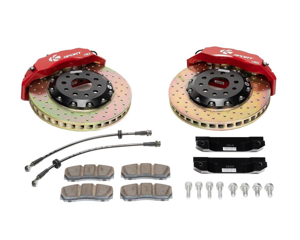 Ksport Supercomp 8 Piston 400mm Rear Big Brake Kit - Slotted Audi TT 2006-2014 - BKAU120-862SO