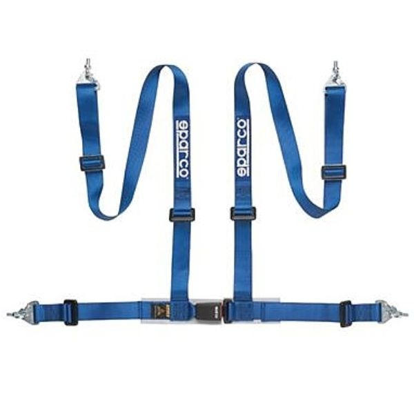 Sparco 2-Inch Tuner 4-Point Snap-In Harness Blue - 04604BM1AZ