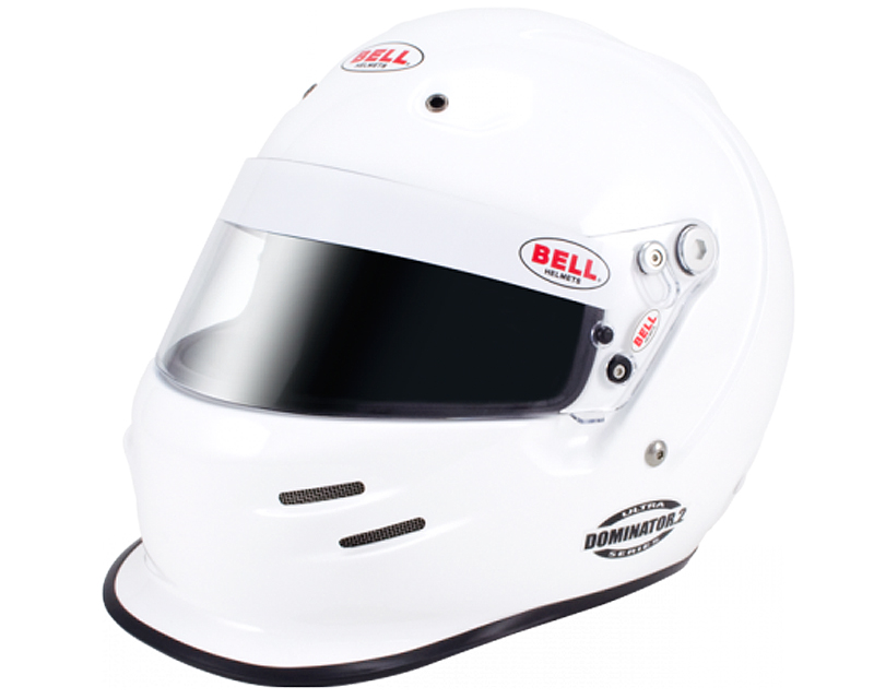 Image of Bell Racing Dominator.2 White Helmet 7 12 60 SAH 2010