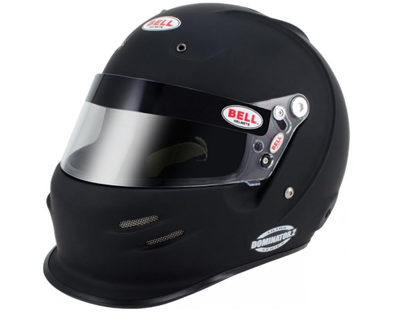 Image of Bell Racing Dominator.2 R. Matte Black Helmet 7 12 60 SAH 2010