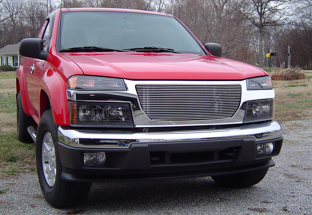 Canyon Grille Insert 04-13 GMC Canyon Aluminum Polished Billet Series T-REX Grilles - 20370