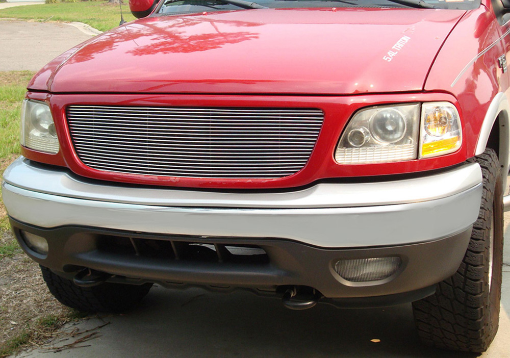 F-150/Expdition Grille Insert 97-02 Ford F-150/Expdition All Models Aluminum Polished Billet Series T-REX Grilles - 20580