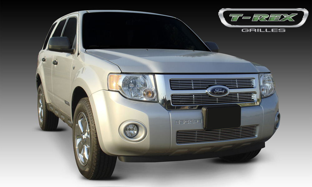 Escape Grille 08-12 Ford Escape Aluminum Polished 2 Piece Billet Series T-REX Grilles - 20649