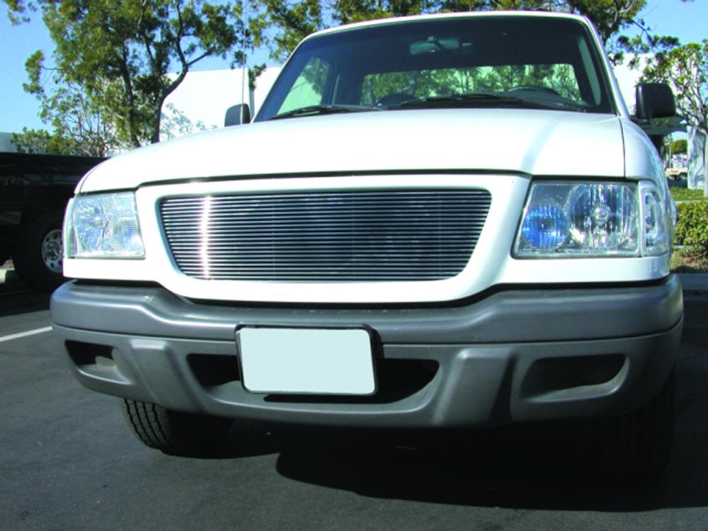 Ranger Grille Insert 01-03 Ford Ranger 2WD Aluminum Polished Billet Series T-REX Grilles - 20688
