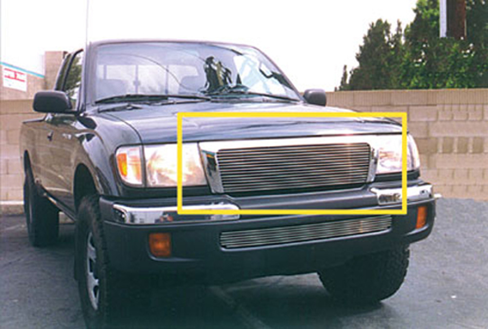 Tacoma-4WD/Pre-Runner Grille Insert 98-00 Toyota Tacoma-4WD/Pre-Runner Aluminum Polished Billet Series T-REX Grilles - 20881